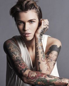 HD photos of Ruby Rose in Glamour Germany