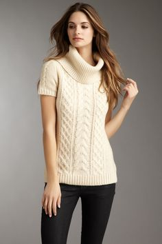 Love the cable knit and the texture by changing the heaviness of ...