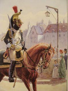 The very elegant parade uniform of an officer of the Dragoons de Imperatrice de la Garde Imperiale.