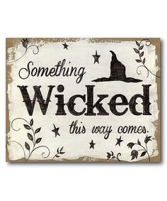 Look at this #zulilyfind! 'Something Wicked' Gallery-Wrapped Canvas #zulilyfinds