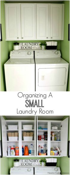 Tips for organizing a small laundry room. Learn how to organize your laundry room to make the most of the space you have.
