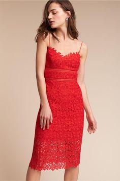Red Alessa Dress | BHLDN |