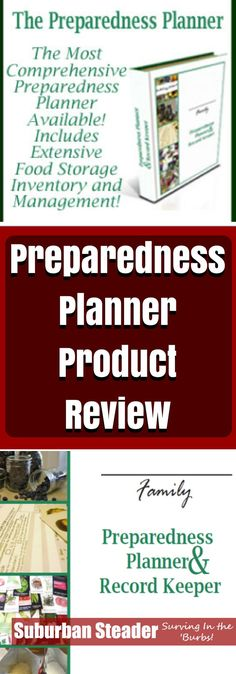 Being organized is something suburban homesteaders need to take seriously. The Preparedness Planner & Record Keeper reviewed here helps keep you organized!