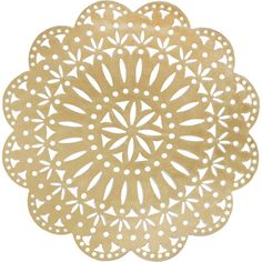 Kim Seybert Fete Placemat (110 ILS) ❤ liked on Polyvore featuring home, kitchen & dining, table linens, gold, kim seybert, kim seybert placemats, round placemats, round table mats and round table linens