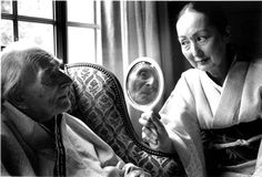 Duane Michals - Ideta Setsuko and Balthus (Balthasar Klossowski de Rola) in a double portrait, 1995
