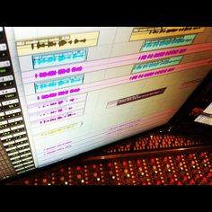 "Comping in the A studio before doing the ""whoah-oh"" vocal nonsense.  #studio #protools #work #screen"