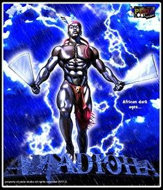 """Amadioha (Igbo literal meaning """"free will of the people"""") is the Alusi (god) of thunder and lightning of the Igbo people of southeastern Nigeria. He is amongst the most popular of Igbo deities and in some parts of Igboland, he is referred to as Amadiora"""