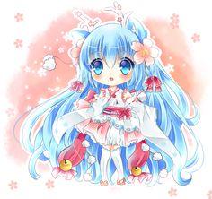 have you ever seen a blue deer? by *MiiyukiRuu on deviantART