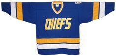 Charlestown Chiefs hockey jersey from SlapShot movie Custom Hockey Jerseys, Slap Shot, Ice Hockey, My Style, Fitness, Movies, Mesh, Tops, Films