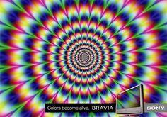 Sony Bravia: Optical illusion one