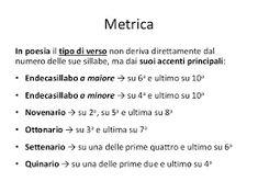 Accenti dei versi, metrica della poesia italiana