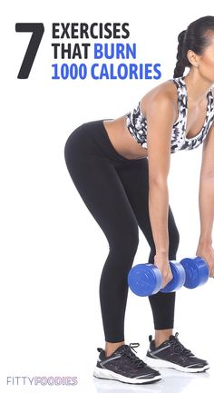 It could take a lot of work and time to burn 1000 calories if you& doing the wrong exercises. Here are 7 of the best exercises to burn fat fast! Weight Loss Blogs, Weight Loss For Women, Lose Weight In A Week, How To Lose Weight Fast, Weight Gain, How To Burn Fat, Body Weight, Weight Loss Smoothies, Healthy Weight Loss