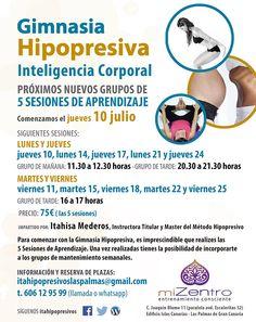 Aprendizajes Gimnasia Hipopresiva. Julio.  Las Palmas de Gran Canaria