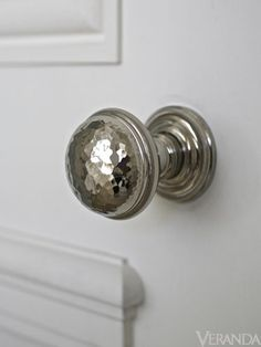knobs by nanz - modern and classic styles. love this hand-hammered one. Really beautiful stuff