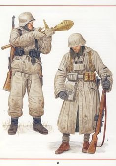 Pin 23 The German's wore white winter uniforms. Coming out of the smoke of the battle they were sometimes described as ghosts.