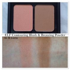 elf Contouring Blush and Bronzing Powder in St Lucia swatch