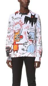 basquiat hand painted t shirt Jean Michel Basquiat, Student Teaching Outfits, Fashion Corner, Painted Clothes, Valentino, Look Cool, Textiles, Refashion, Ideias Fashion