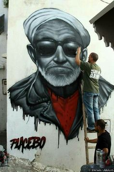 Street Art by Placebo, located in Morocco