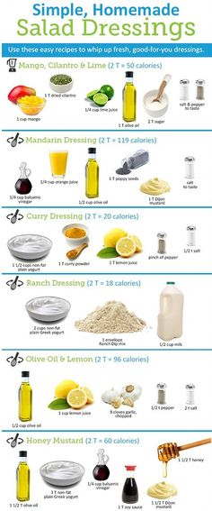 simple, homemade salad dressings.