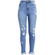 Jeans Skinny mid blue ZALANDO ($57) ❤ liked on Polyvore featuring jeans, pants, bottoms, calças, pantalon, skinny jeans, skinny fit jeans, blue jeans, denim jeans and skinny leg jeans