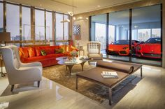 luxury garage interiors | In a city where car parking space is severely limited, Singapore's ...