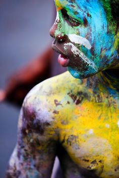 Human Canvas. J'ouvert Morning. Grenada Carnival 2008. Photo credit ~ Joshua Yetman