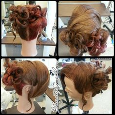 Flower girl #updo by our student, Chelsea. #wedding #hair