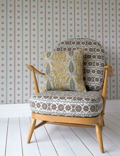 Spey Stripe - a wallpaper by Angie Lewin for St Jude's http://www.stjudesfabrics.co.uk/collections/angie-lewin/products/spey-stripe-wallpaper