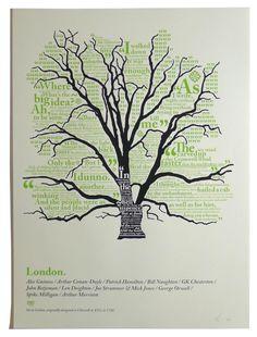 London word tree by Tim Godwin 60 gbp