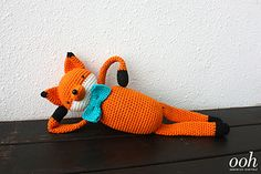 Tyler the Fox is one out of a collection of 5 crochet dolls made in collaboration with KPC Yarn. Crochet Pattern Free, Crochet Fox, Fox Pattern, Crochet Toys Patterns, Crochet Animals, Stuffed Toys Patterns, Crochet Dolls, Diy Clothing, Amigurumi Doll