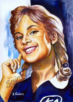 """Αλίκη Βουγιουκλάκη """"Το Ξύλο Βγήκε απ`τον Παράδεισο"""" 1959, αφίσα πορτραίτο, αυθεντικός πίνακας ζωγραφικής Black Men, Greece, Cinema, Sketches, Painting, Actors, Portrait, Artemis, Movies"""