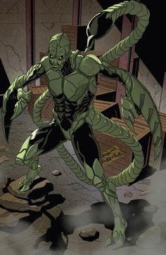 Scorpion aka MacDonald Gargan from Spider-Man 2099 Vol 2 3 °° Comic Villains, Comic Book Characters, Marvel Characters, Marvel Universe, Marvel Dc, Marvel Heroes, Hawkeye Comic, Spiderman Pictures, Dc Comics