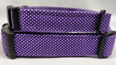 Purple with White Polka Dots  dog collar by HalasPaws on Etsy