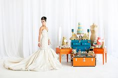 Queen of the Nile | WedLuxe Magazine  -  in different colors