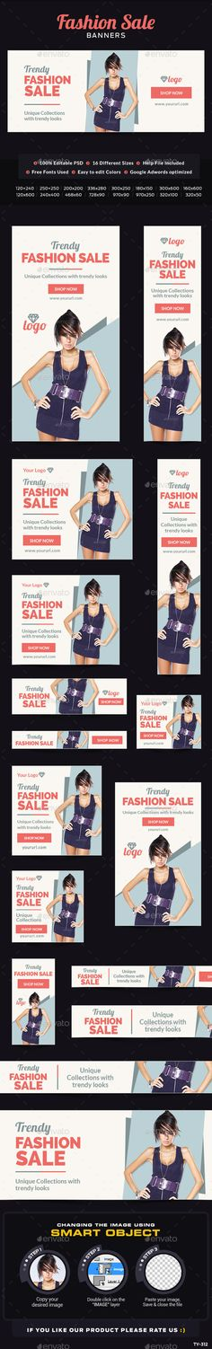 Fashion Sale Banners   Download: http://graphicriver.net/item/fashion-sale-banners/10436300?ref=ksioks