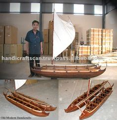 POLYNESIAN CATAMARAN Wooden Model - Google Search