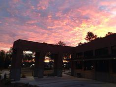 Luck Flanders Gambrell Building sunrise