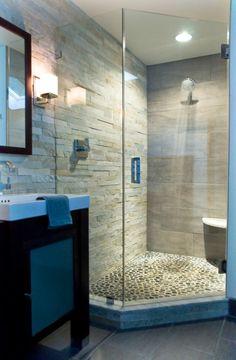 kleine steine für den duschkabienenboden