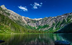 """Avalanche Lake"" -- #wallpaper by ""Youen California"" from http://interfacelift.com -- Glacier National Park, Montana, USA.  A truly wonderful place to visit."