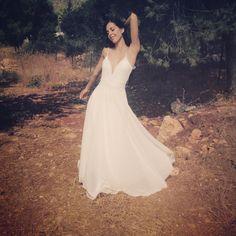 Romantic wedding dress, backless wedding dress, beach wedding dress by thebride2b on Etsy https://www.etsy.com/listing/205988791/romantic-wedding-dress-backless-wedding