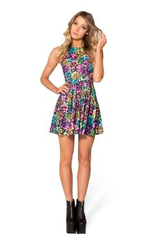 Wrapped Up Reversible Skater Dress (48HR) › Black Milk Clothing