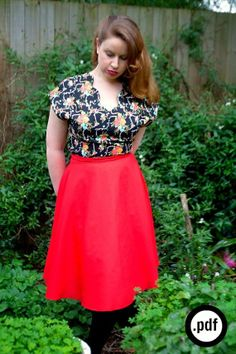 The Mae blouse PDF sewing pattern par Bluegingerdoll sur Etsy, $12.50