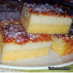 - Ingredientes 200 ml leite de… Sweet Recipes, Cake Recipes, Corn Cakes, Portuguese Recipes, Delicious Desserts, Muffins, Cheesecake, Good Food, Food And Drink