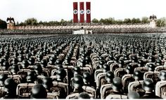 Germany Third Reich NSDAP Nuremberg Rally 1936 Parade of the NSDriver's Corps the SA and the SS at the rally ground digitally colorized Original. Berlin 1945, Nuremberg Rally, Colorized Photos, Socialism, World War Two, Wwii, Germany, Instagram, Operation Barbarossa