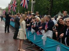 Prince Edward and Lady Louise Windsor at the Patrons Lunch celebrations of the Queens 90th birthday on the Mall. June 12 2016