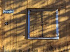 Old wooden window in Loviisa, Finland