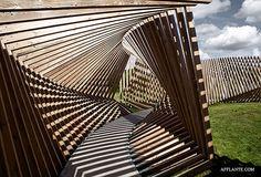 Ekko Spatial Wooden Installation // Thilo Frank | Afflante.com