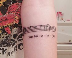 I actually love the idea of tattooing 1 measure of something on me (and also I love this song)