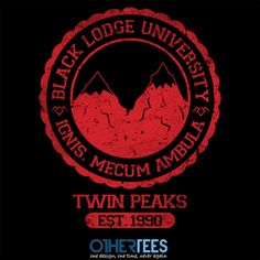 Black Lodge University by alecxps Shirt on sale until 15 March on http://othertees.com #twinpeaks