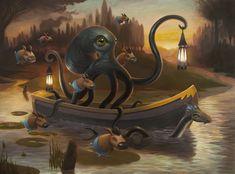 Scott Musgrove - Twilight Barge - Final Unframed